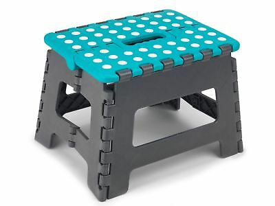 New Beldray Lightweight Small 22Cm Folding Gray And Blue Step Stool Home Diy