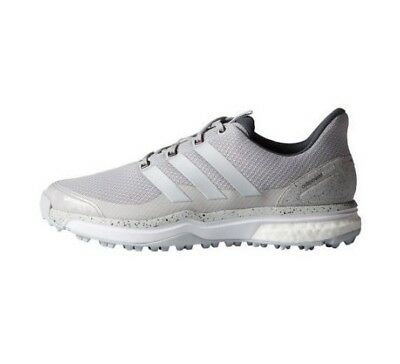 adidas Mens Adipower Sport Boost 2 Grey / White Golf Shoes F33217 Size 8.5 US