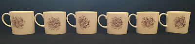 Violin Horn Music Musical Instruments Susie Cooper Demitasse Cup Cups Set of 6