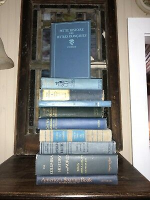 Lot of 10 mix vintage BLUE BOOKS antique collectible Some Rare