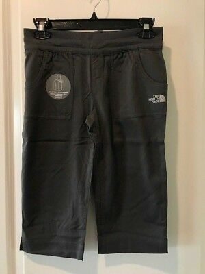 The North Face Girls Aphrodite Capri Pants Grey Small or Medium NWT MSRP:$45.00