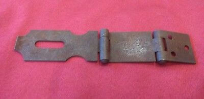 Vintage Antique Heavy Hinged Hasp Latch Lock Gate Door Barn Hardware Part - Jr