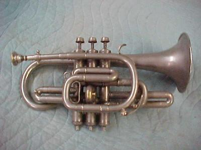 Antique Henri Gautier Virtuoso Cornet, Good Playing Condition!