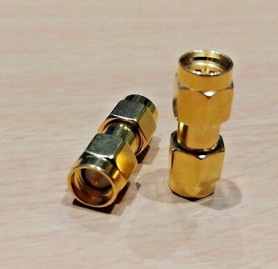 1 PAIR - SMA Male to Male Coupler (Standard Polarity)