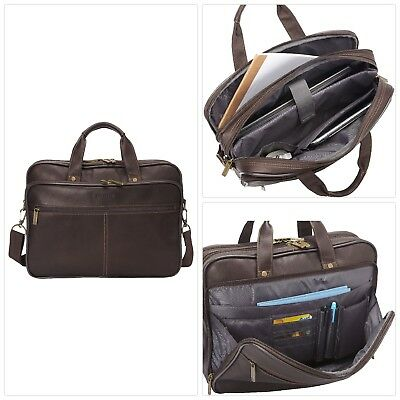9d527a2bd99c HERITAGE COLOMBIAN LEATHER Double Compartment Top Zip 16