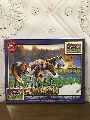 NEW Paint Works Dimensions Paint By Numbers Kit Pasture Buddies #91417