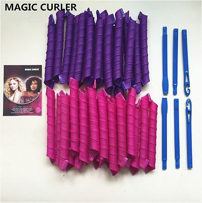 20/30/45/55CM DIY Hair Curlers Tool Styling Rollers Spiral Circle Magic Roller