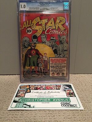 All-Star Comics #7 CGC First Batman and Superman Appear Together in a Story