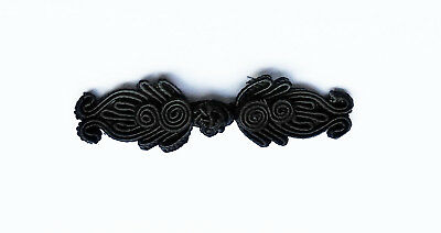 6 pairs black Chinese Frogs buttons knot closures fasteners Cheongsam sewing