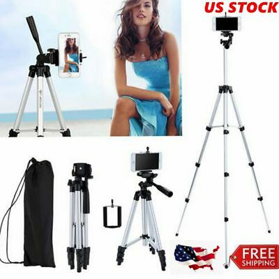 Professional Aluminium Camera Tripod Stand Travel for Phone Canon Nikon DSLR