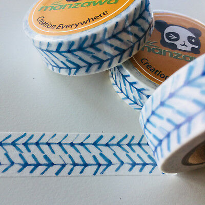 Washi Tape Blue Tracks 15Mm X 10Mtr Planner Craft Wrap Scrap Mail Art