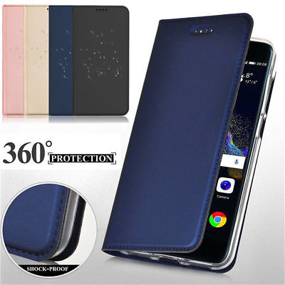Leather Flip Magnetic Stand Case Cover For Huawei Mate 10 Lite P9 P10 Lite Nova