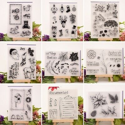 Clear Transparent Silicone Rubber Stamp DIY Cling Diary Scrapbooking Card Decor