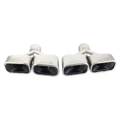 Stamped AMG Double Wall Oval Car Dual Exhaust tips for 2.5in. right angle inlet