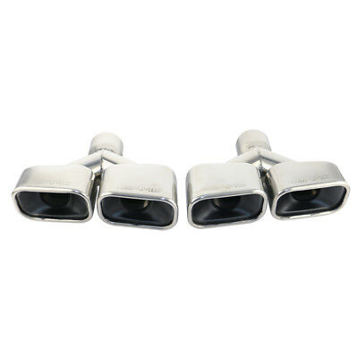 Stamped AMG Double Wall Square Car Dual Exhaust tips for 2.5in.  inlet