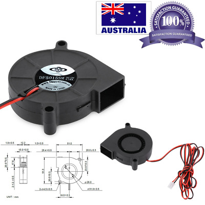 DC 12V 50mm Blow Radial Cooling Fan 5015 Exhaust For RepRap 3D Printer