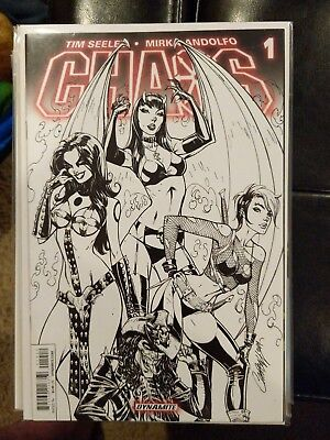 Chaos #1 J.Scott Campbell Sketch Cover