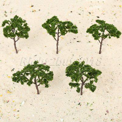 5pcs Trees Model Train Railroad Wargame Diorama Scenery Landscape HO OO Scale
