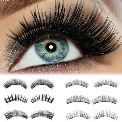 New 6 Pairs Magnetic Eyelashes Reusable Double Magnet False Eye Lashes Extension