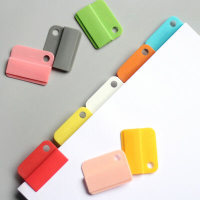 6pcs Colorful Easy Clip Document Paper Clips Folder Notebook Bookmark