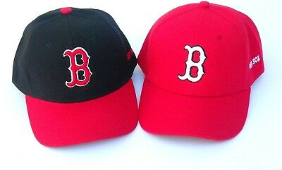 Boston Red Sox Baseball Hat Cap Curved Bill Adjustable One Size New!!