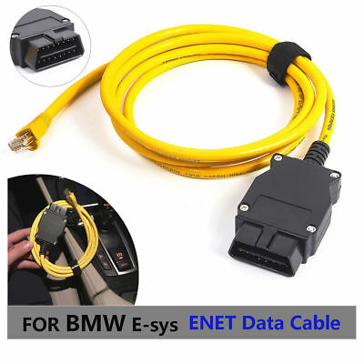 BMW ENET Ethernet to OBD Interface Cable RJ45 Programming Diagnostic Cable