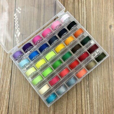 25 Roll Polyester Bobbins Sewing Thread Box Kit Set For Home DIY Sewing Machine