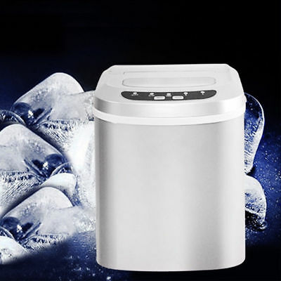 Ice Cube Maker Machine Electric Commercial Counter Table Top Bar Drinks 15kg