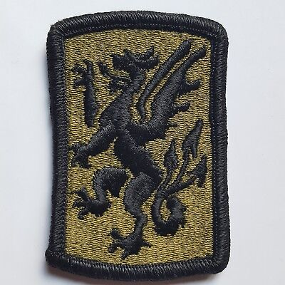 U.s. Army Aufnäher Patch 415Th Chemical Brigade Oliv Subdued Tarn Original