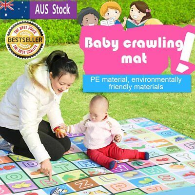 Child Infant Baby Kids Crawling Game Waterproof Floor Play Mat Rug Double-Side #