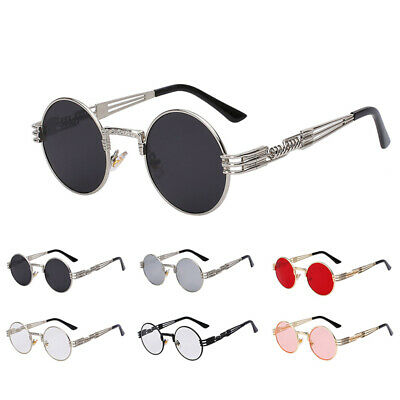 Vintage Steampunk Sunglasses Retro Designer Round Circle Glasses Hippie Eyewear