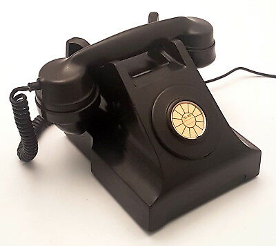 Antique Collectible Black Bakelite Without Dial ITI Vintage Telephone.