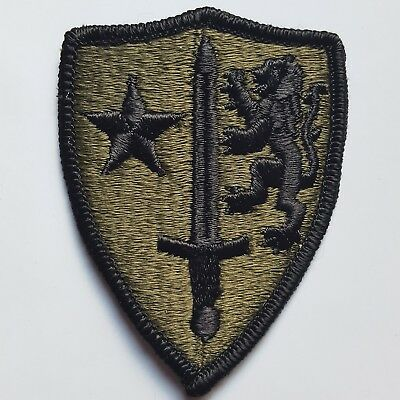 U.s. Army Aufnäher Patch Allied Command Europe Nato Oliv Subdued Tarn Original