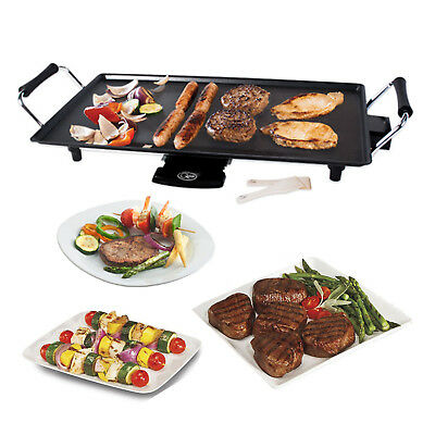 Quest New Electric Teppanyaki Grill Table Top Griddle BBQ Hot Plate 2000W