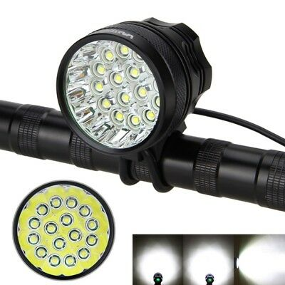 60000LM 16x XML T6 LED Bicycle Bike Headlight Front Light Lamp Torch Headband