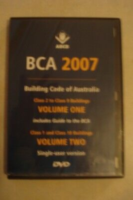 - Building Code Of Australia [2007] Vo1 1 & 2 [Pc Cd-Rom] As New [Now $49.75]