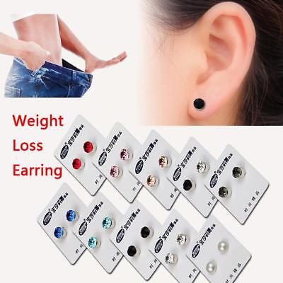 Magnetic Therapy Weight Loss Earrings Stimulating Tackle Slim Health Care