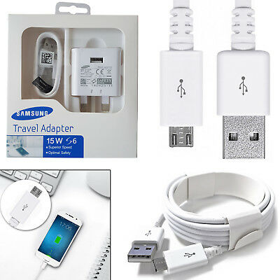 Original Samsung Galaxy S6 S7 Edge Fast Charger Mains Travel Adapter / USB Cable