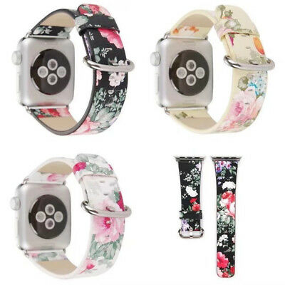 Ink Painting Style Replacement Synthetic Leather Sport Band For Watch38-42