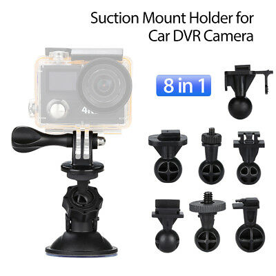 Universal 8in1Dash Cam Suction Mount Kit Fr G1W G1W-CB SJ5000x SJ4000 camera NEW