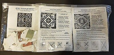 3 Cross Stitch Quilt Block Patterns + Thread by Marie Ary for RAINBOW GALLERY