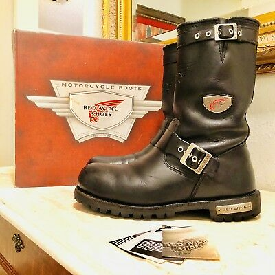 c60d6cfe4dd RED WING 988 Truwelt Pull-On Engineer Boots Mens Size 10 D Steel Toe Biker  Boot