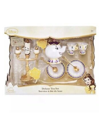 Disney Beauty And The Beast Tea Set Light Up Lumiere Talking Mrs Potts Play