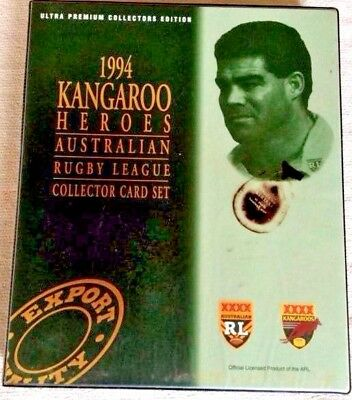 RUGBY LEAGUE  COLLECTOR CARD SET 1994 KANGAROO HEROES 55 cards 5 Rookies AUSTRAL