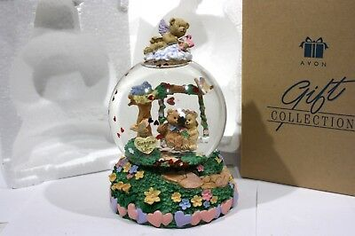"""Avon Garden Of Love Water Globe / Music Box Plays: """"Let Me Call You Sweetheart"""""""