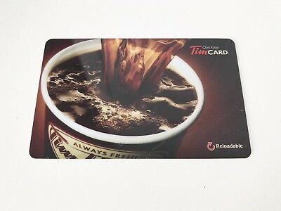 TIM HORTONS Gift Card ZERO $ Balance COFFEE POURING IN CUP 2014, No Value
