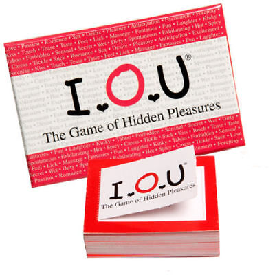 IOU! The Game of Hidden Pleasures SEXY PULL TABS CARD GAME UK SELLER FAST POST