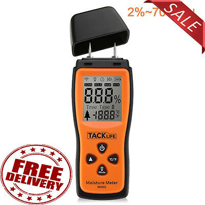 Wood Damp Meter Digital Moisture Detector Humidity Caravan Tester Lcd Trees Test