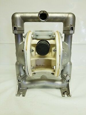 "Versa-Matic E1 Stainless Steel 1"" Air Operated Double Diaphragm Pump"