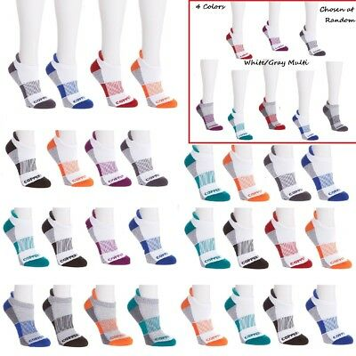 Copper Fit 4-Pair Unisex Color-Block Sport Performance Sock 563265A-J